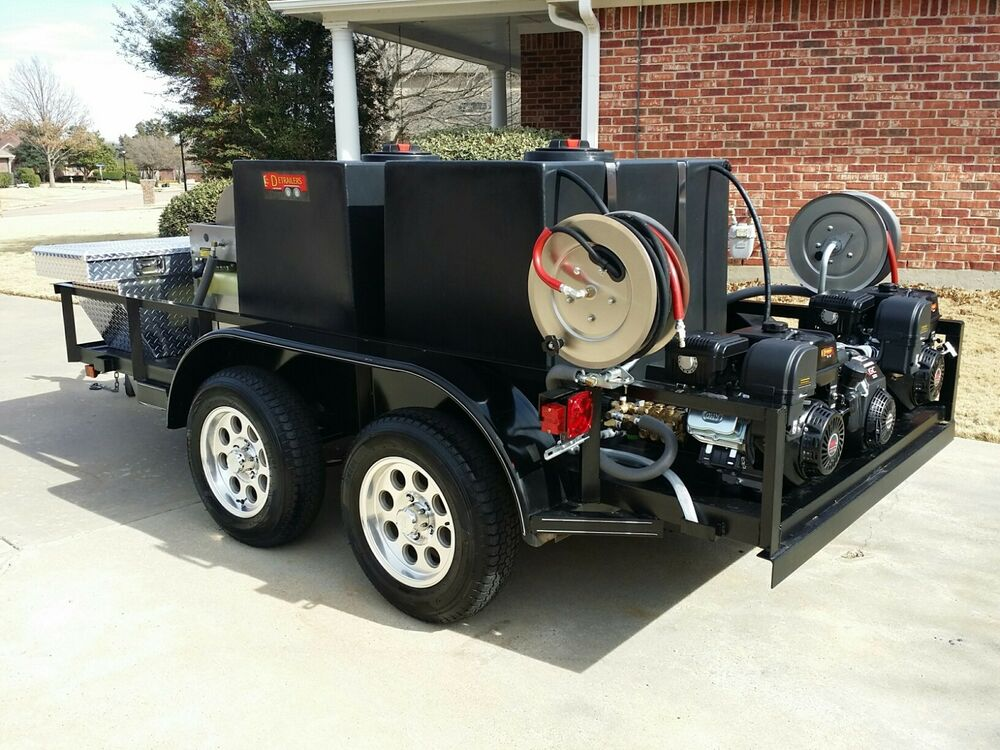 mobile wash auto detail hot pressure power wash trailer ebay. Black Bedroom Furniture Sets. Home Design Ideas