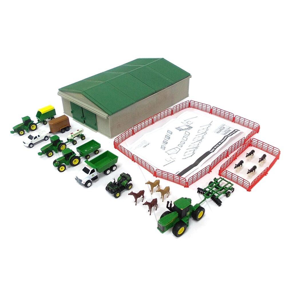 1 64 Ertl John Deere 70 Pc Value Set W Gray Machine Shed