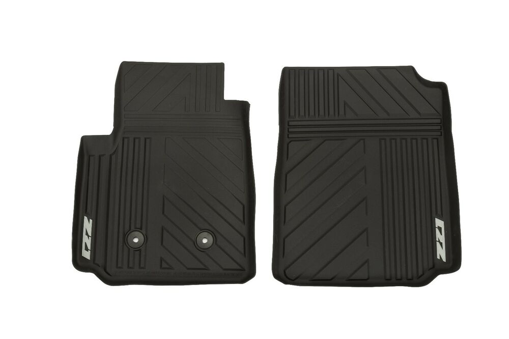 Gm 22968487 Black Front All Weather Floor Mats W Z71 Logo