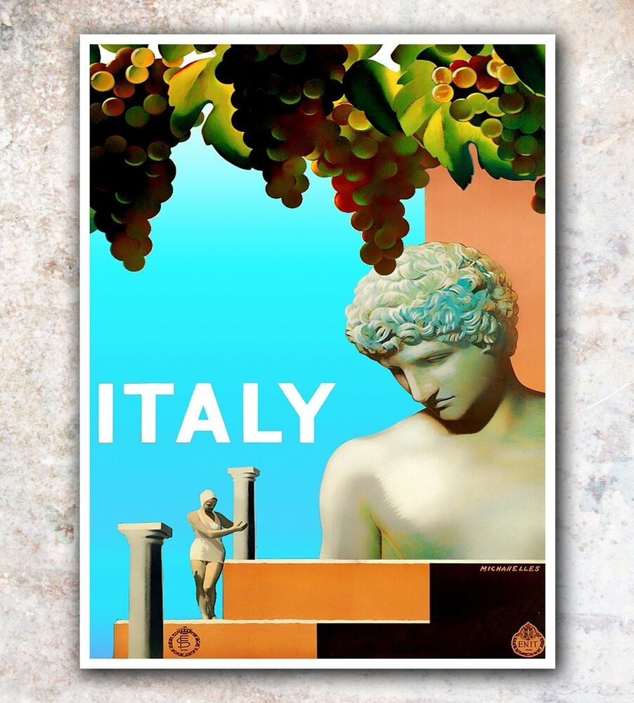 Italy art travel poster italian wall decor print 11x14 Decorating walls with posters