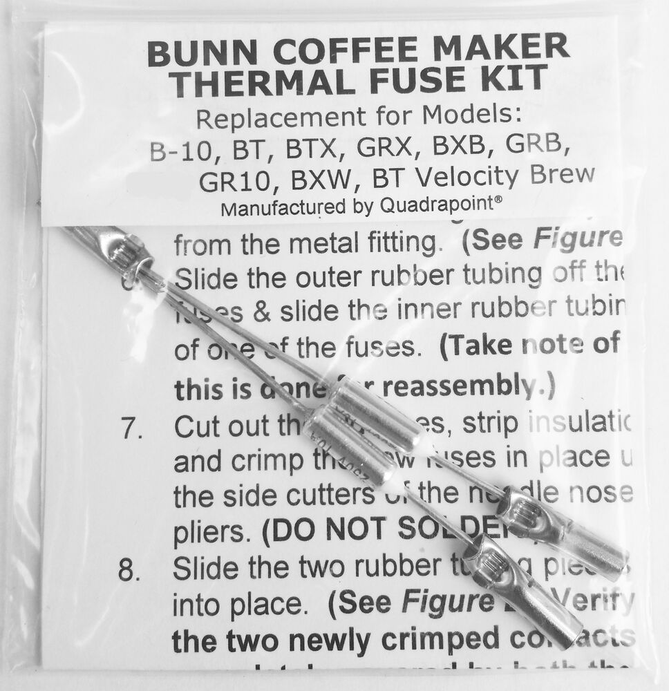 Bunn Coffee Maker Repair Kit : Repair Your Bunn Coffee Maker ~ Water not Heating? Thermal Fuse Kit eBay
