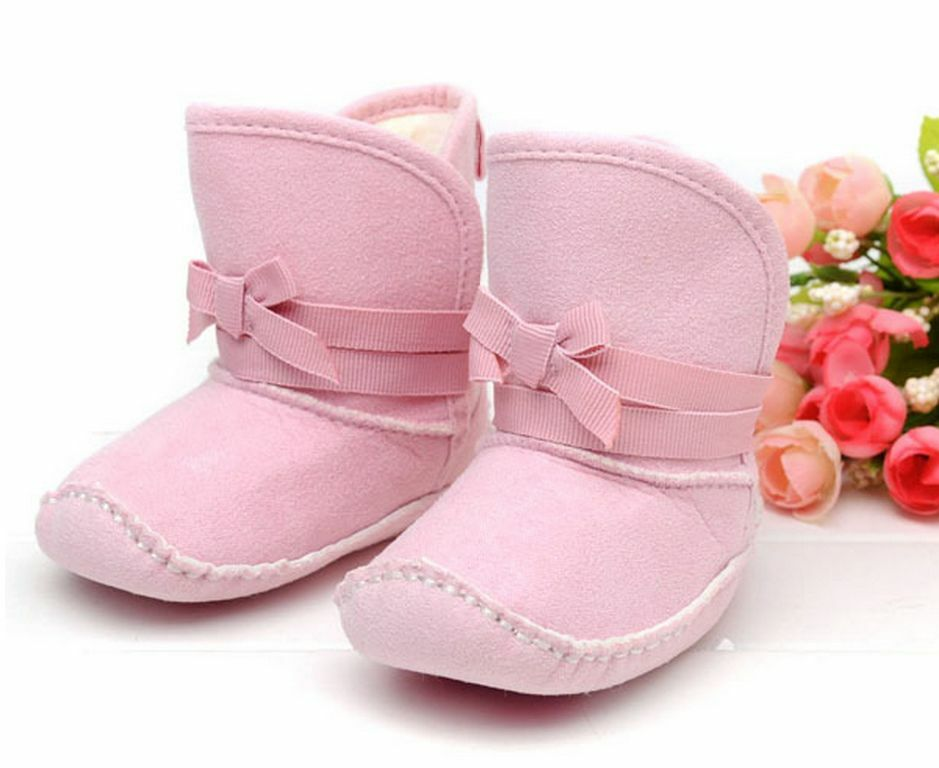 NEW Baby Girl Pink Booties Boots Pre walker Shoes 6 9