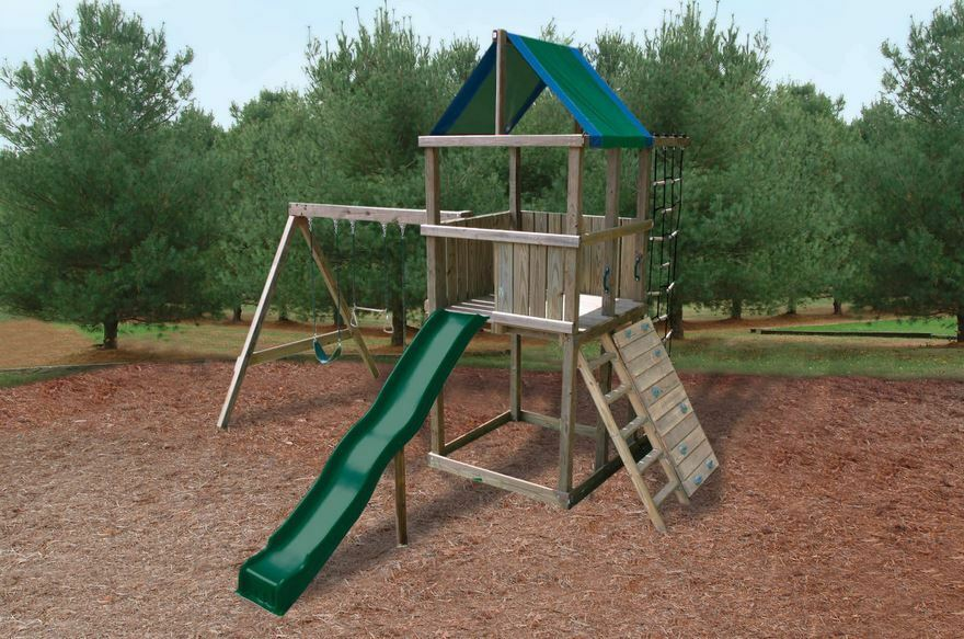 Swing N Slide Green Blue Replacement Tarp Roof Shade