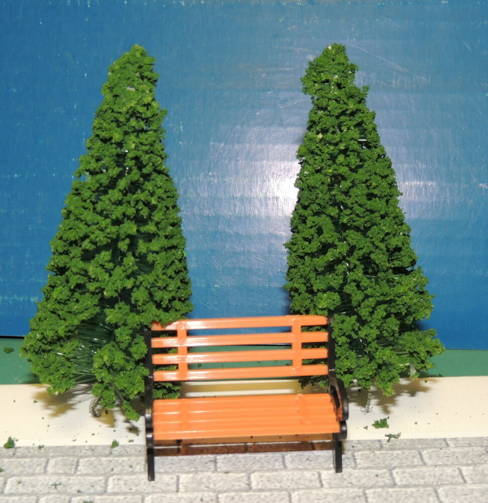 Park Bench W Trees Miniature 1 24 G Scale Diorama L K