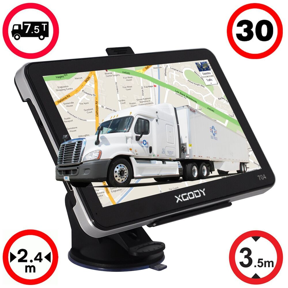 Navigation System In Truck : Quot truck car gps sat nav navigation system navigator gb