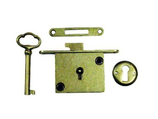 Polished Brass Chest Lock Full Mortise Furniture Lock