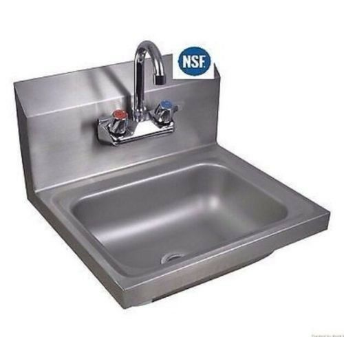 Commercial Kitchen Stainless Steel Wall Mount Hand Sink W Faucet New Ebay