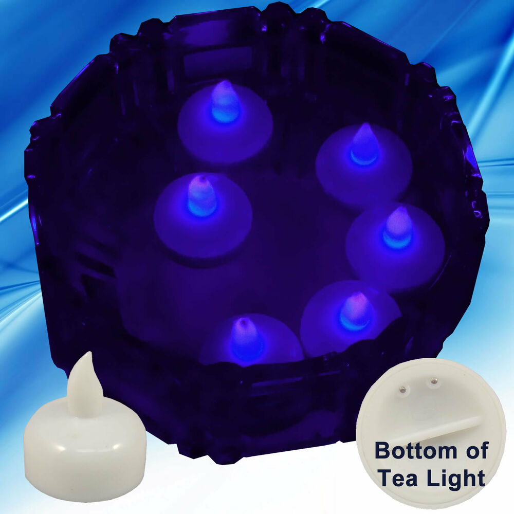 New purple led floating floral tea light candle for