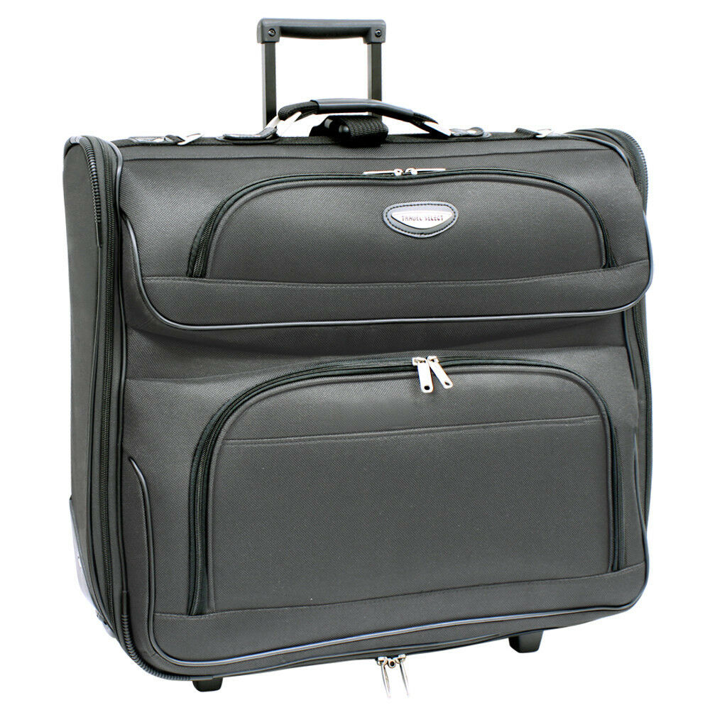 "garment_Travel Select Amsterdam 23"" Dark Grey Upright Wheeled Rolling Garment Travel Bag ..."