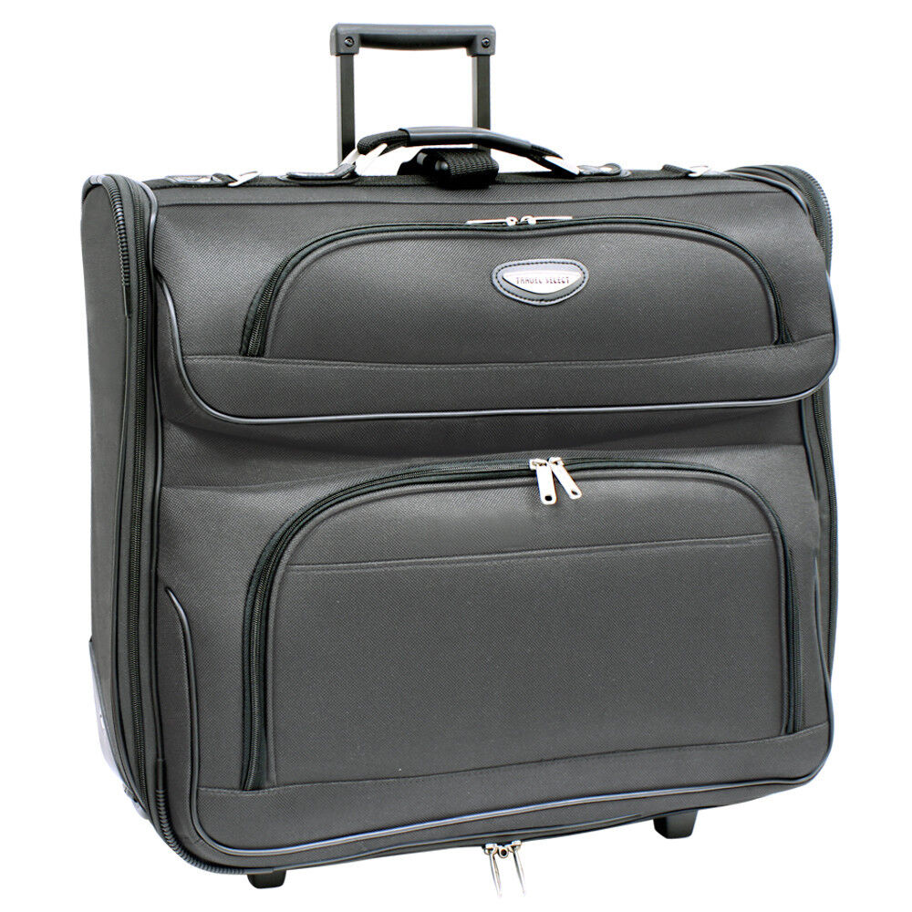dee816f895 Details about Travel Select Amsterdam 23  Dark Grey Upright Wheeled Rolling  Garment Travel Bag