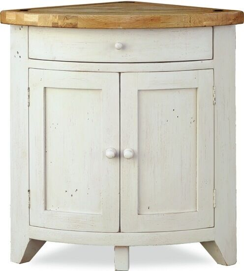 Minack oak corner cupboard country style painted for Kitchen cabinets ebay