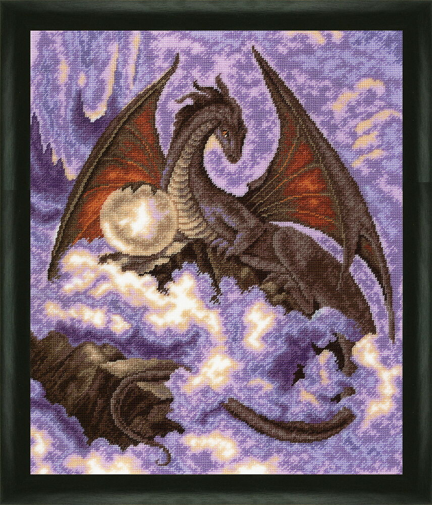 Dragon Counted Cross Stitch Kit With Color Symbolic