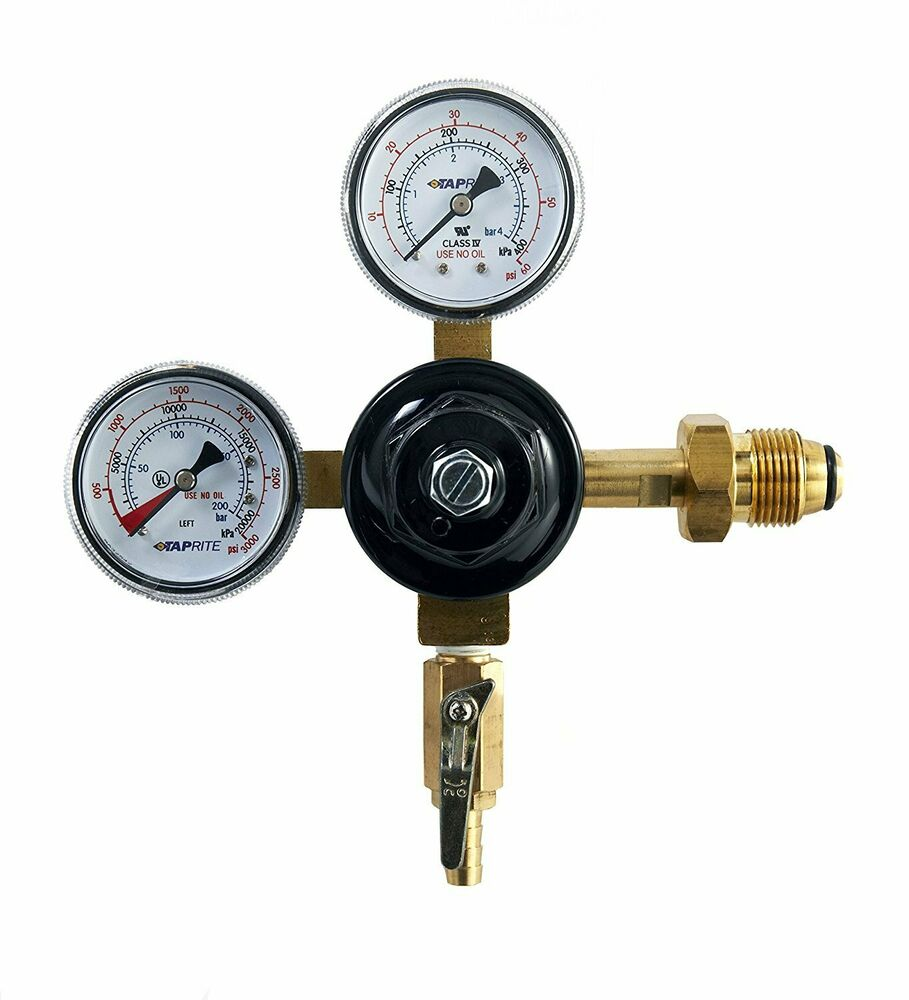 High Pressure Regulator : Taprite co e hpn high pressure dual primary gauge