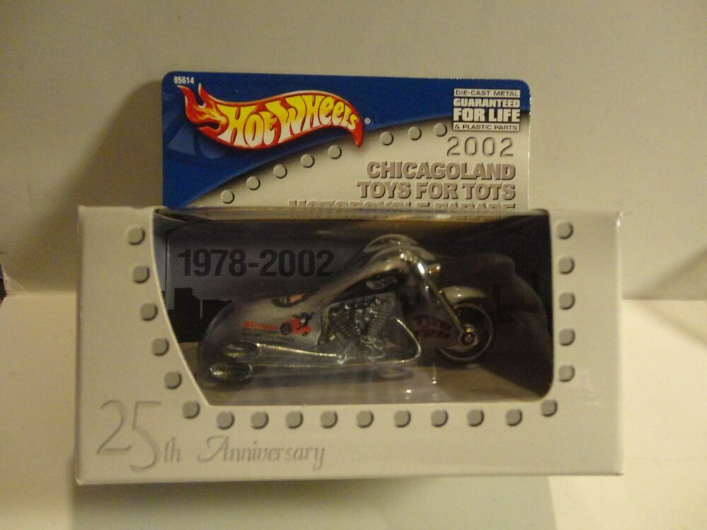 Toys For Tots Chicago : Hot wheels pow mia chicagoland toys for tots silver