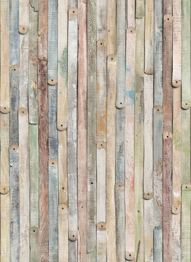 Vintage wood photo wallpaper wall mural old wooden wall for Mural on wood