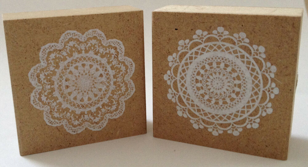 Wooden Lace Doily Rubber Stamps Cardmaking Scrapbooking ...