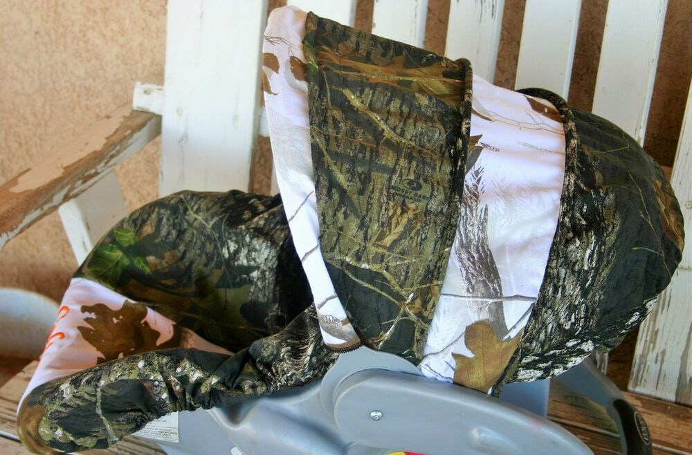 Mossy Oak And Realtree Snow Camo Infant Car Seat Cover And Hood Cover Ebay