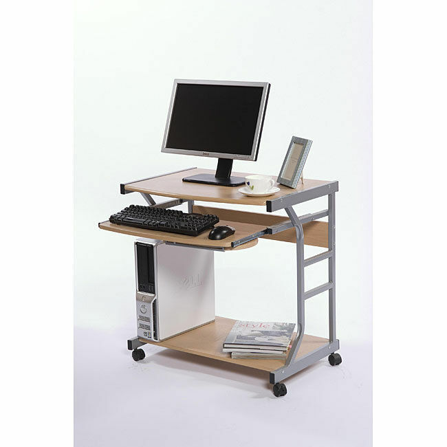 Berkeley Computer Desk Table Rolling Cart Furniture