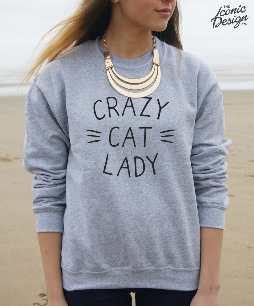 Crazy Cat Lady Sweatshirt Uk