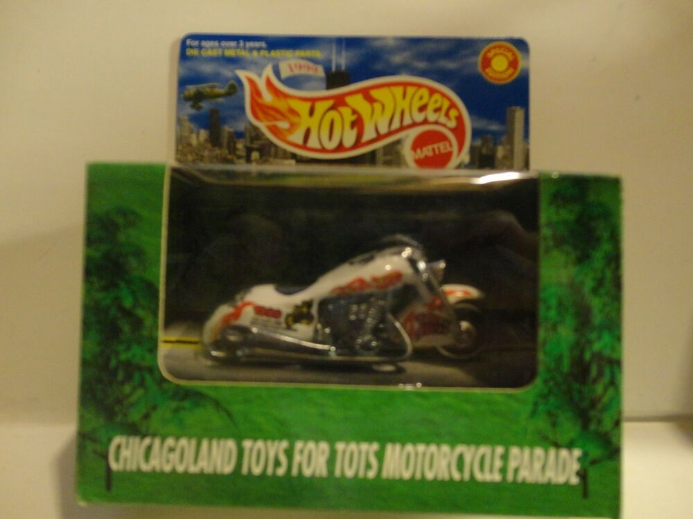 Motorcycle Toys For Tots : Hot wheels ltd edition chicagoland white toys for tots