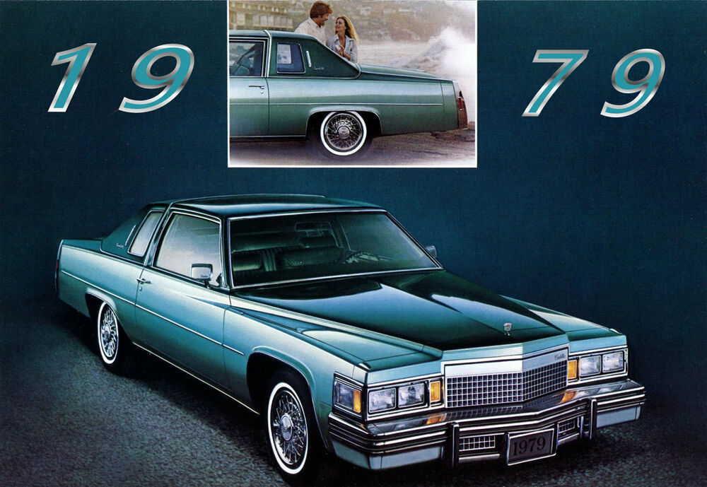 1979 Cadillac Coupe Deville Blue Refrigerator Magnet 40