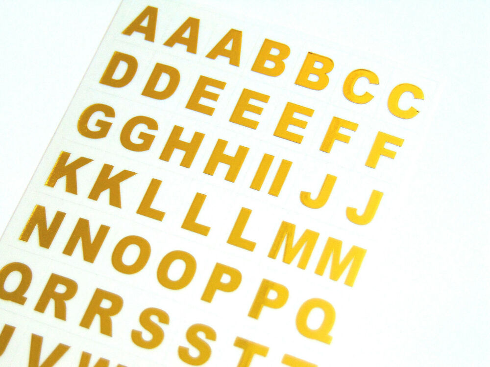 9 5mm Gold On Clear Vinyl Sticky Letters Alphabet A Z
