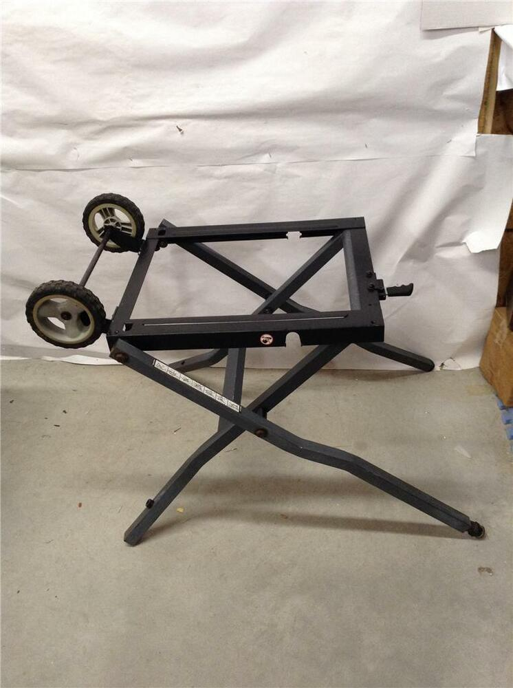 Craftsman Folding Stand For Table Saw With Wheels Fits Model Ebay