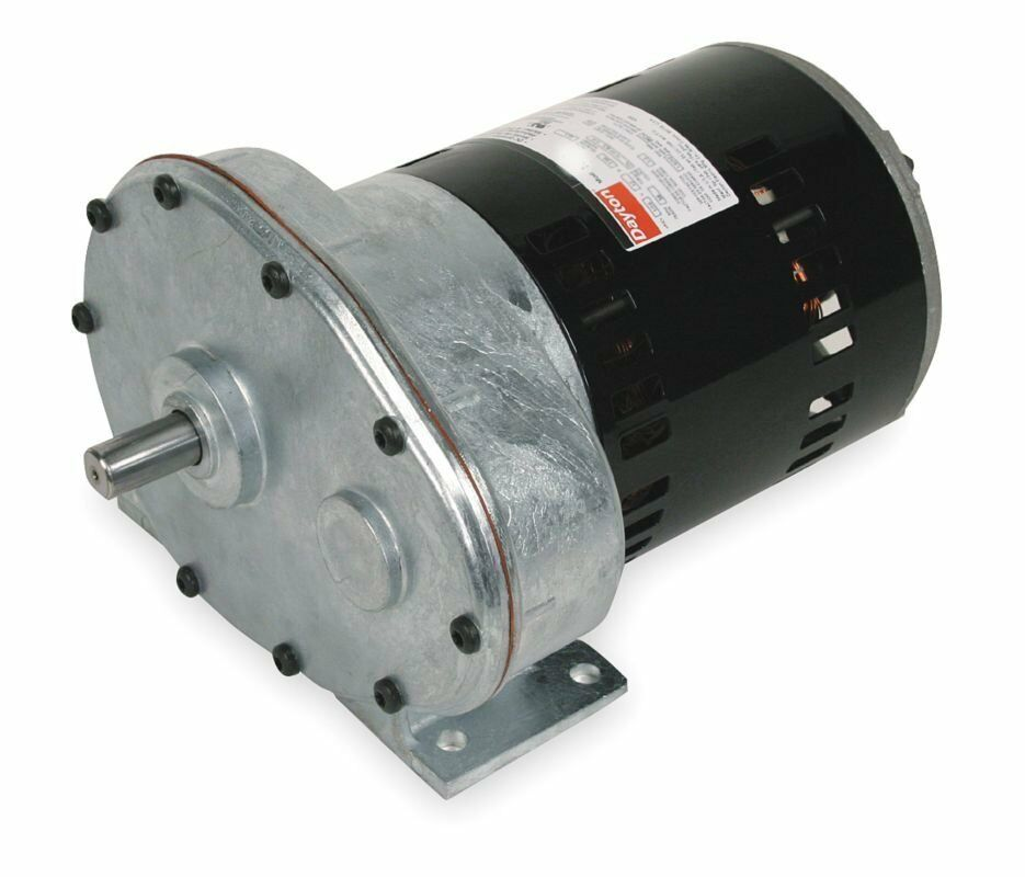 Dayton Model 1lpu4 Gear Motor 62 Rpm 1 2 Hp 115 Volts
