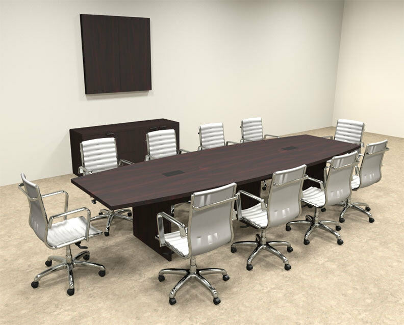 Modern boat shapedd 12 39 feet conference table of con c63 for 12 conference table