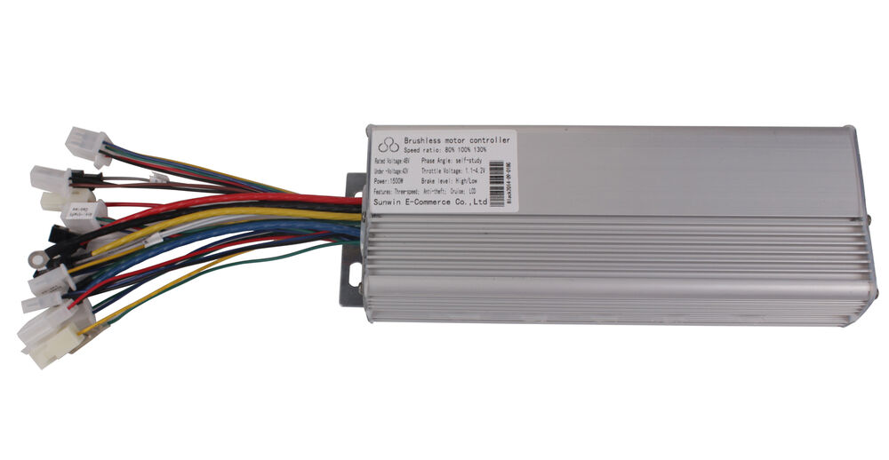 Electric bicycle brushless motor controller 48v 1500w 18 for 10 amp motor controller
