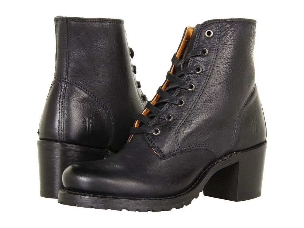 s frye boots sabrina 6g lace up work boot black