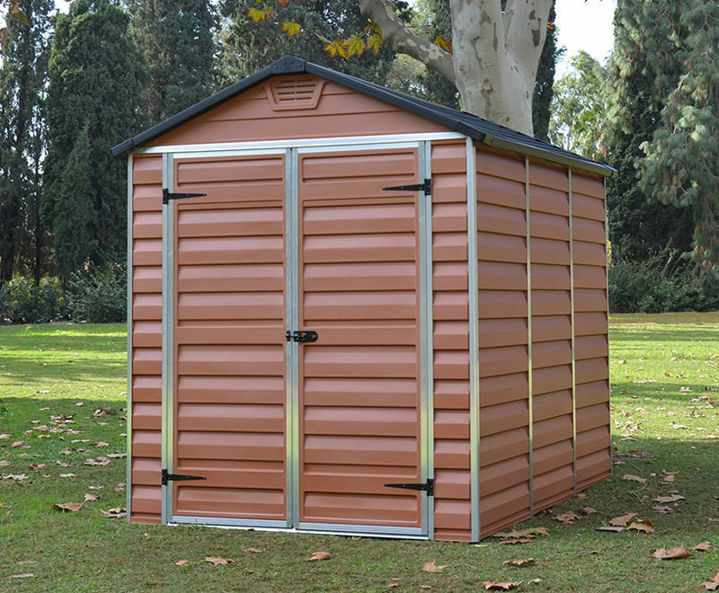Amber palram skylight plastic garden shed 6 sizes for Garden shed sizes