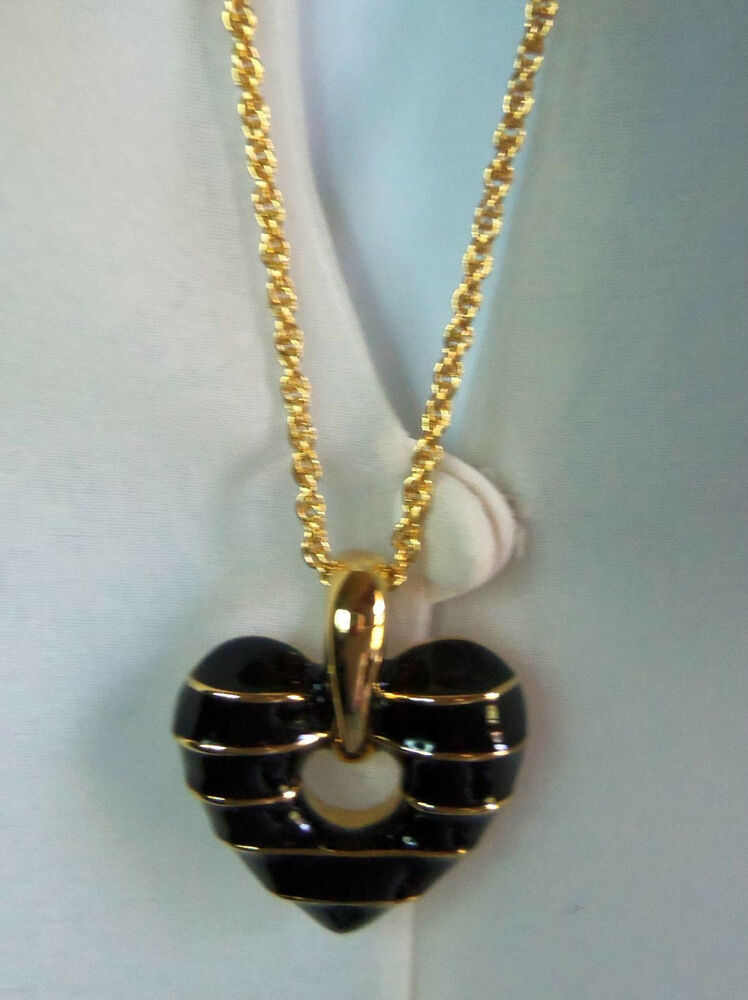 Joan rivers long goldplated reversible black gold heart for Joan rivers jewelry necklaces