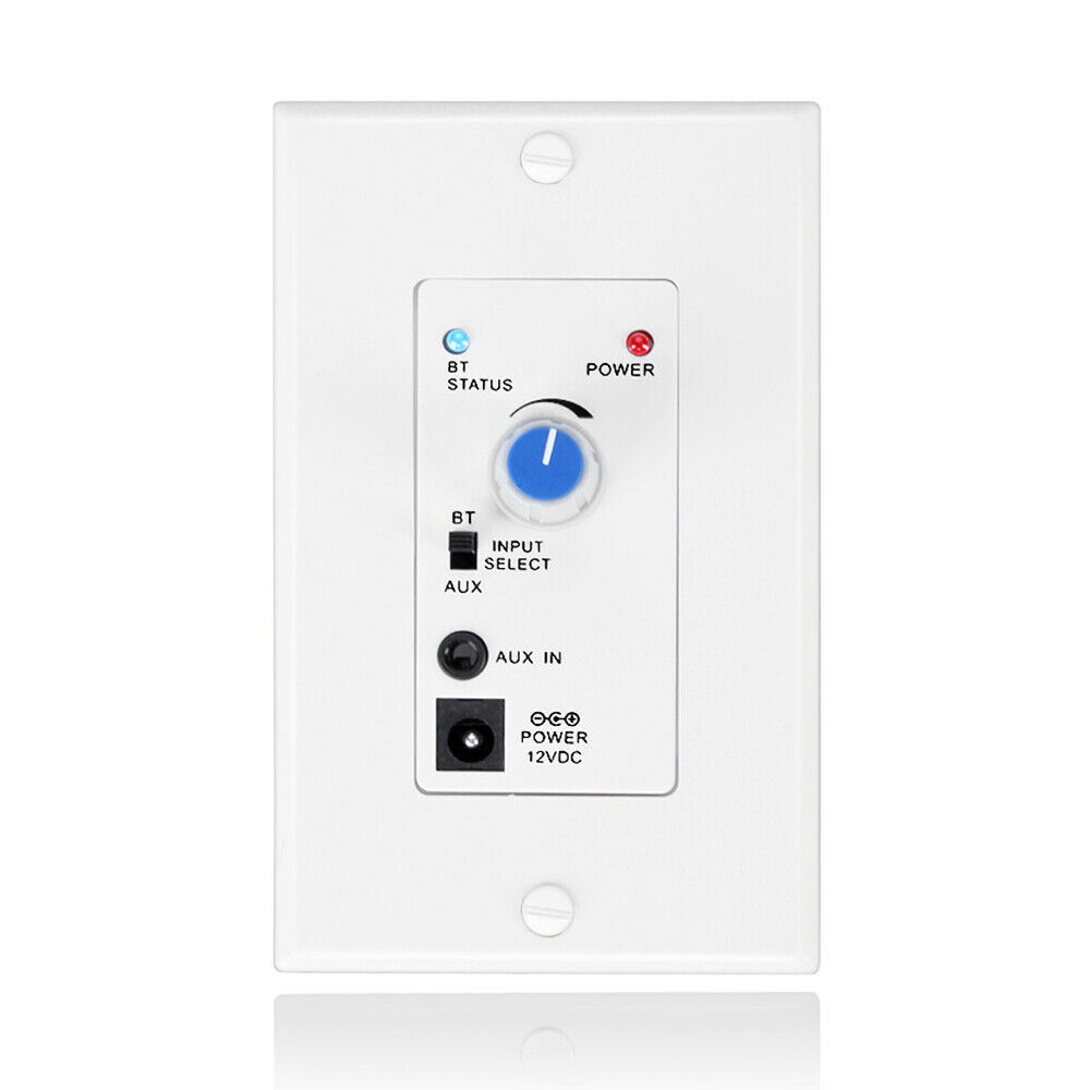 Wall Plate Wireless Bluetooth Music Receiver Stereo Audio