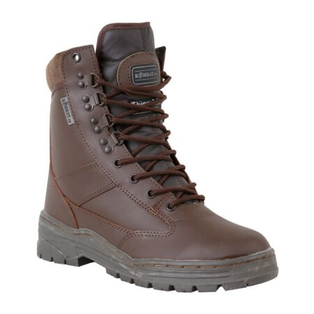 img-Full Leather BROWN Military Boot Army Boots Tactical Cadet Sizes 6 -11