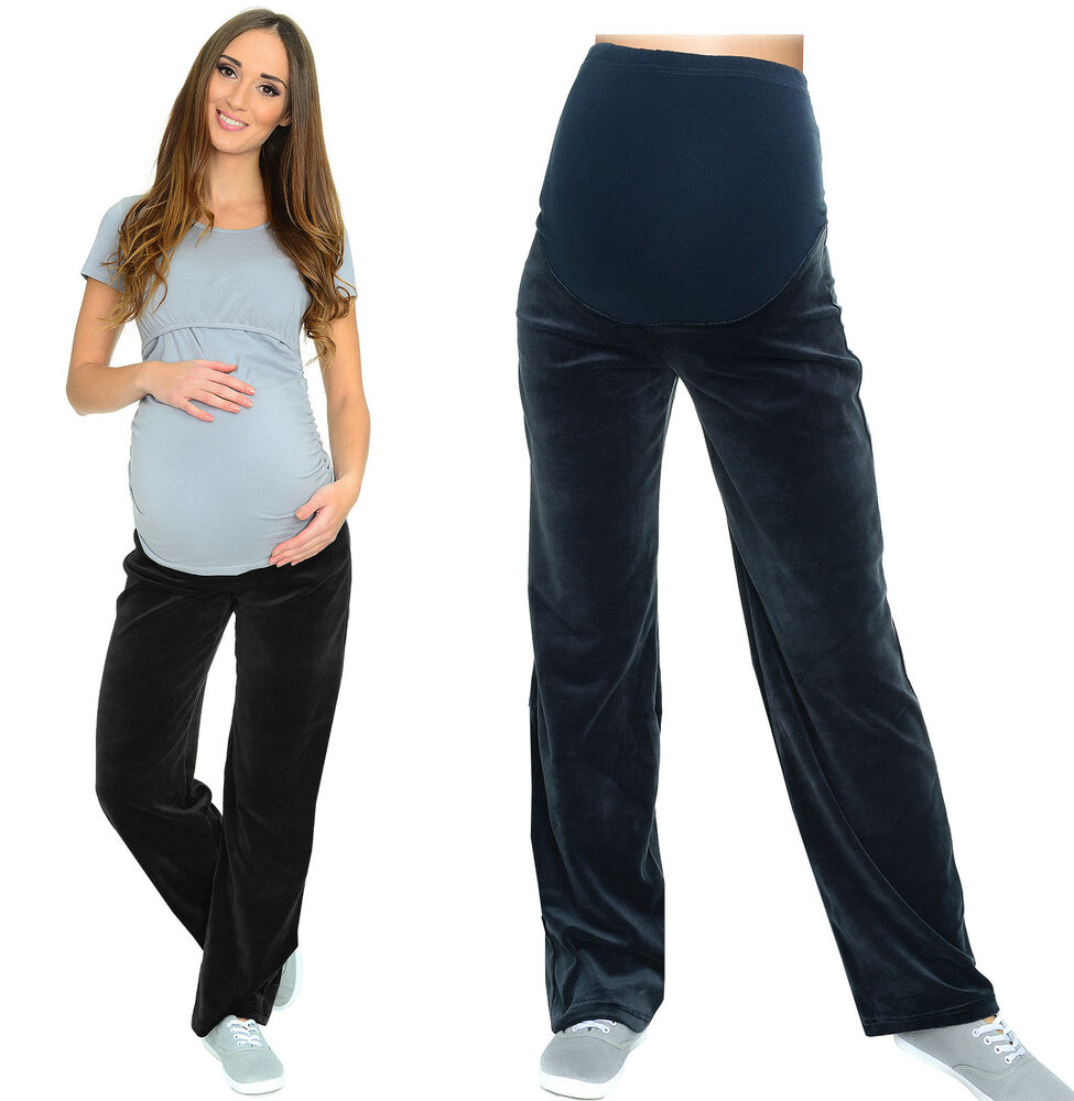 Maternity Casual Comfortable Yoga Gym Trousers Pants Over