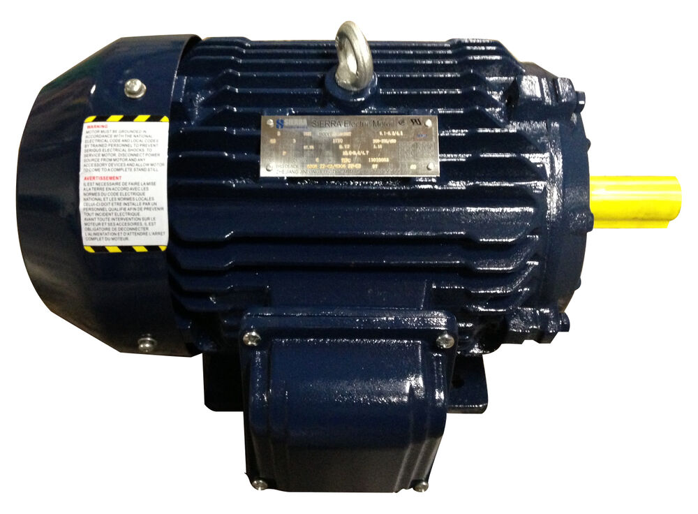 5 hp electric motor 184t 3 phase high efficient 1800 rpm for One horsepower electric motor