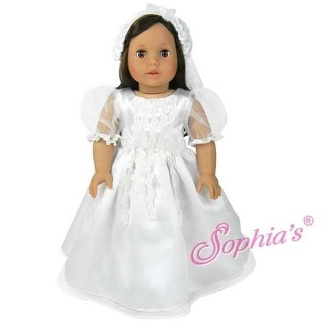 Doll clothes ag 18 dress bridal by sophia made to fit for American girl wedding dress