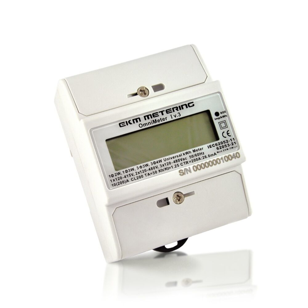 electric kwh meter 120 120 240 up to 480 volts single or 3 phase 24 ebay. Black Bedroom Furniture Sets. Home Design Ideas