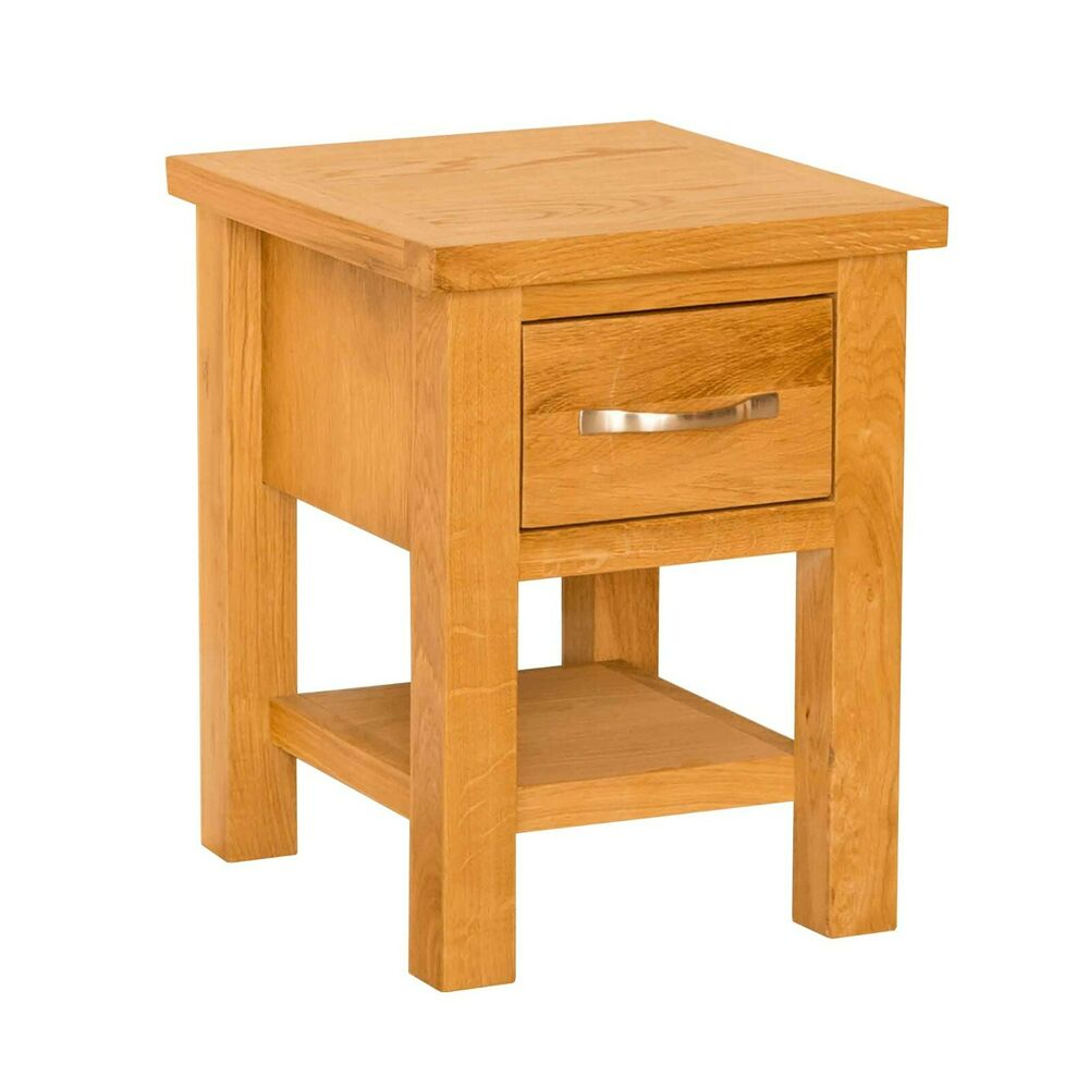 Newlyn lamp table oak side table small 1 drawer end coffee table ebay Coffee table and side table