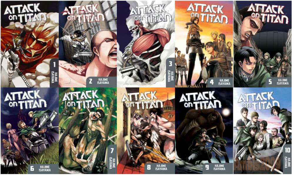 Attack on Titan English Manga Paperback Collection 1-10 by ...