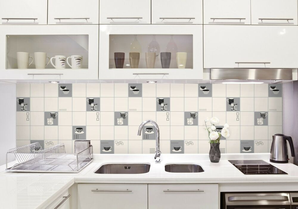 Black Kitchen Tile Backsplash