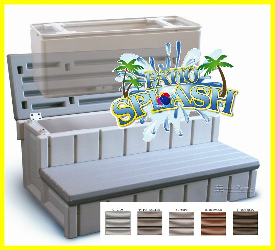 Spa Stairs Storage : Spa Step Storage Step Hot Tub Step Premium Quality RV Steps By Confer ...