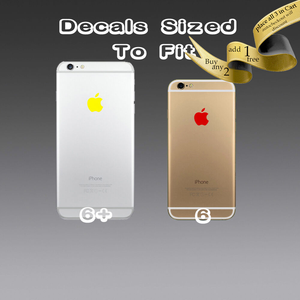 Details about 4x apple logo sticker decal vinyl for iphone 6s 6s 6 6 6 plus 7 7plus