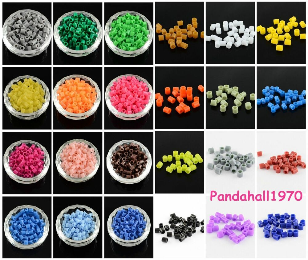Kid Craft Beads: 200pcs PE Tube Perler Fun Fusion Fuse Beads Solid Colors