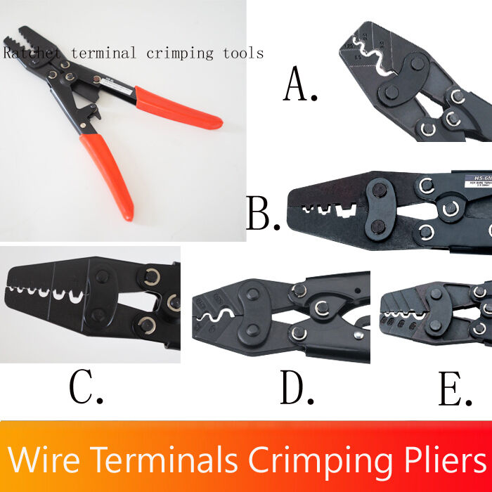 Heavy Duty Ratcheting Crimper Tool Electrical Wire