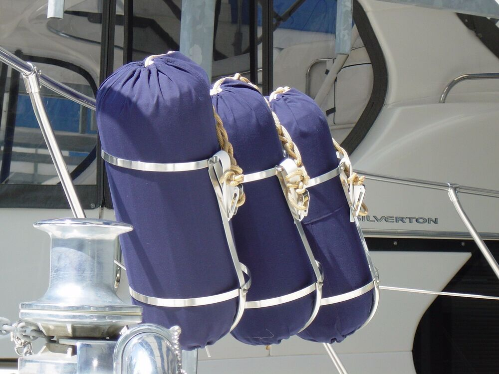 Large Boat Fenders : Large boat fender bumper cover available in sunbrella