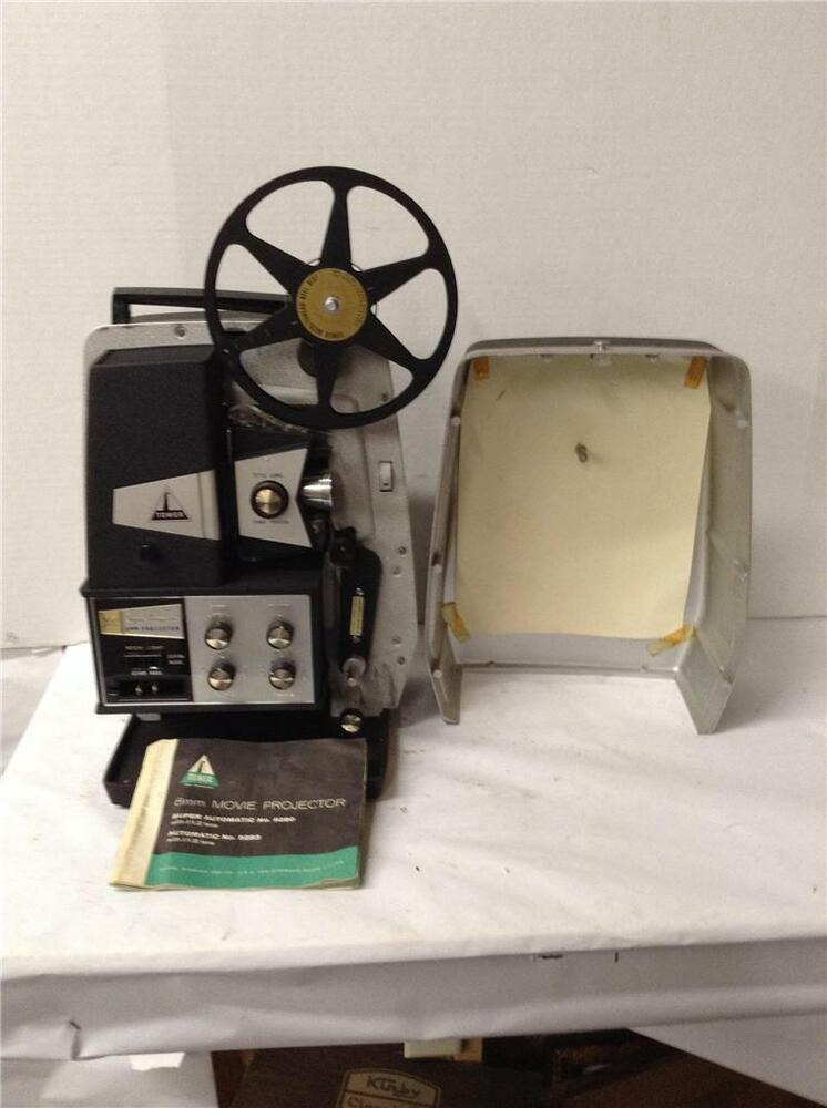 tower super automatic 8mm movie projector j ebay. Black Bedroom Furniture Sets. Home Design Ideas