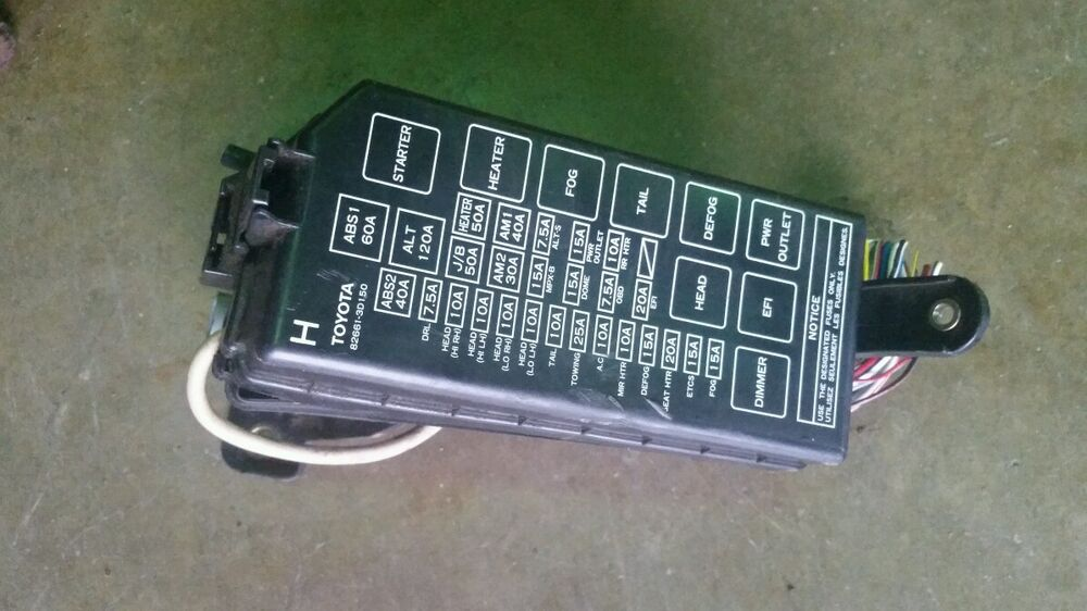 96 97 98 99 00 01 02 toyota 4runner fuse box power
