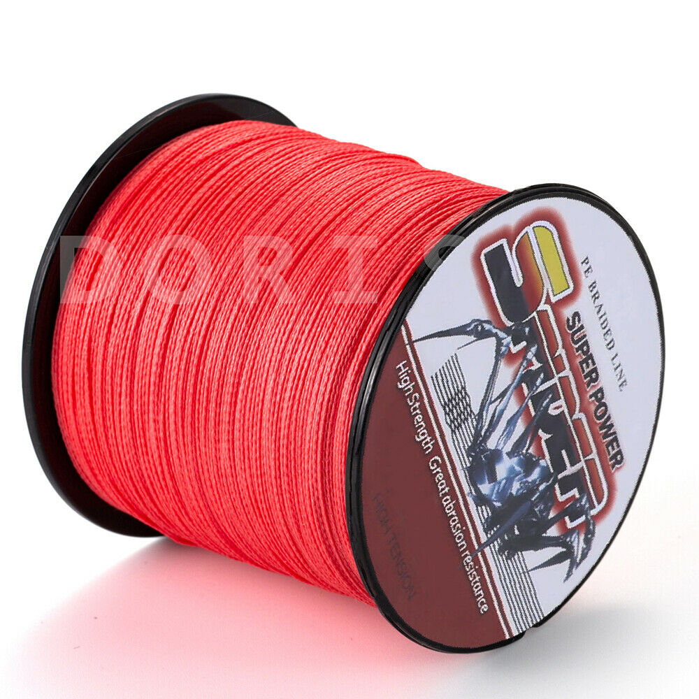 100m 1000m red 6lbs 300lbs top strong dyneema braid sea for Red fishing line